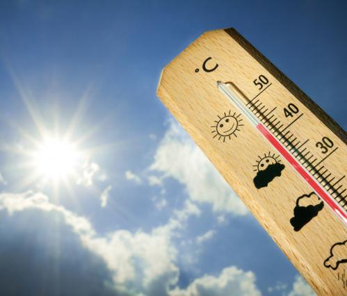 Un thermomètre pour mesurer la chaleur issue de l'alerte canicule
